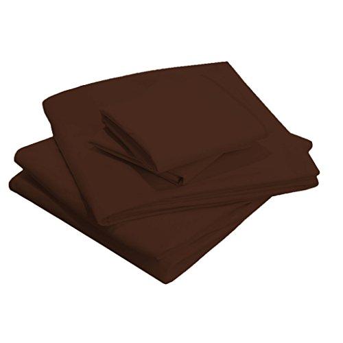 scalabedding Tasche Tiefe 25cm-100% Ägyptische Baumwolle-400Fäden/cm², Olympic Queen Bett Schokolade - Bett Queen-schokolade