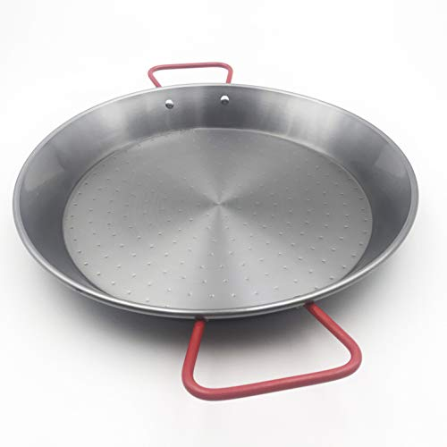 Sunny Spain SSP11138 Paella Pfanne Stahl Poliert | Paella-pfanne (Ø38cm, 9 Rationen)