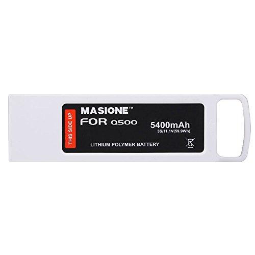 Masione 3S 5400mAh 11.1V LiPo Batería de repuesto para Yuneec Q500,Q500+,Q500 4K,Typhoon...