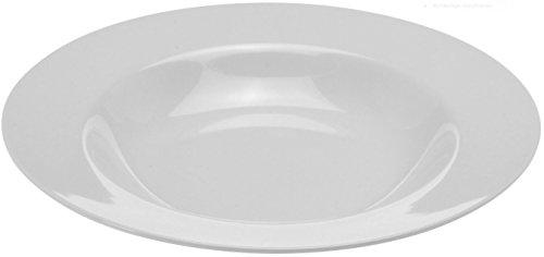 Teller Speiseteller Suppenteller Dessertteller Porzellan Weiß 6 Stück Modellauswahl, Modell:21.5 cm Ø Teller tief