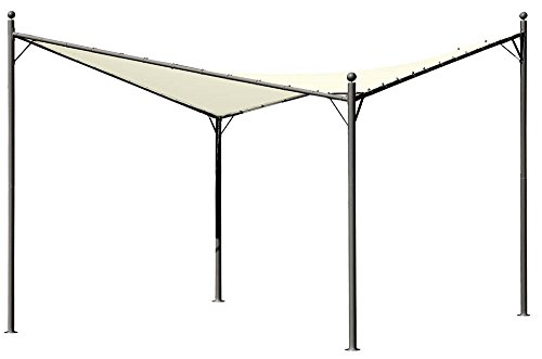 Gazebo vela parasole acciaio alicante 3,5x3,5mt telo impermeabile