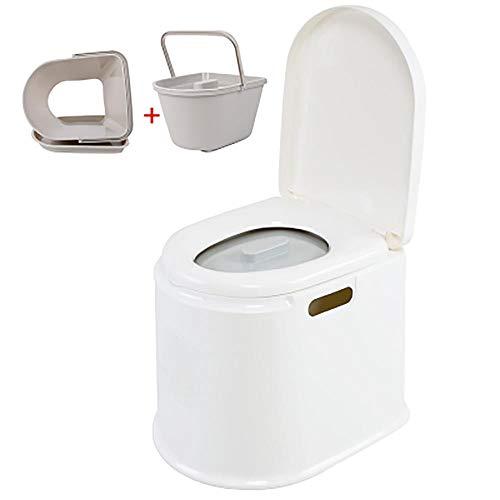 XIHAA Mobile Toilette Anti-Rutsch-Schwangere Frauen Toilette ältere tragbare geduldige Erwachsene Kommode, ältere Schwangere Frauen bewegliche Erwachsene Haushalts-tragbare Kommode,WhiteC