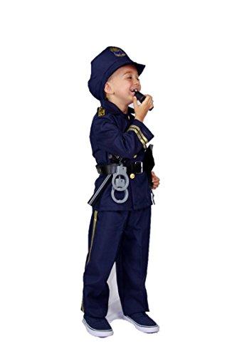 (Matissa Kinderpolizist Rollenspiel Kostüm und Zubehör Jungen Mädchen (Klein (Für Kinder 110-120 cm groß), Junge))