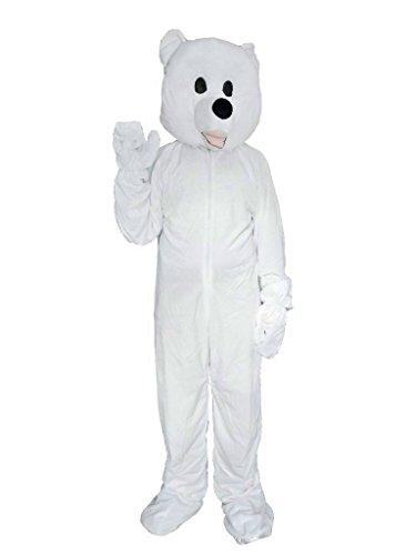 Gr. M, Eisbären-Faschingskostüm, für Fasching Karneval Fasnacht, Karnevals-Kostüme für Männer und Frauen, Faschings-Kostüme, Fasnachts-Kostüme Tier-Kostüme, Geburtstags-Geschenk, Weihnachts-Geschenk (Tier Kostüm-köpfe)