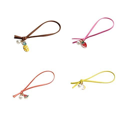 4 exquis anneau de cheveux de fruits accessoires de cheveux de Noël