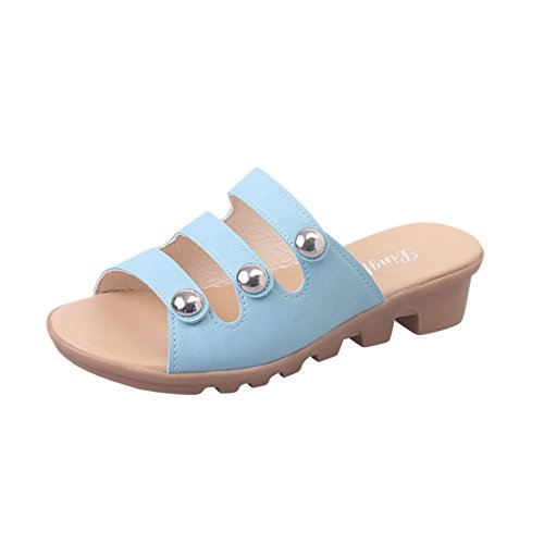Indossando Un Elegante Flip Flops In Estate/Con Pantofole Antiscivolo Di Fondo Piatto A