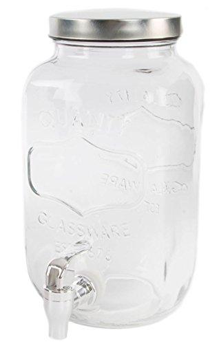Dcasa - Dispensador Bebidas Cristal Vintage 3,5 litros