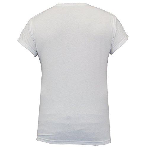 Herren Kurzärmelig Bedrucktes T-shirt By Threadbare weiß - MMV142PKA