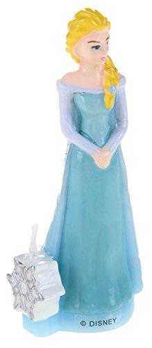 Generique - Bougie danniversaire 3D La Reine des Neiges Elsa 9,5 cm