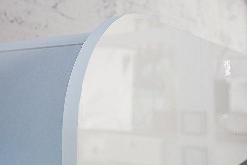 Design Medienwand CUBUS weiß 185cm Hochglanzfront 3D Optik Wohnwand TV Wand - 5