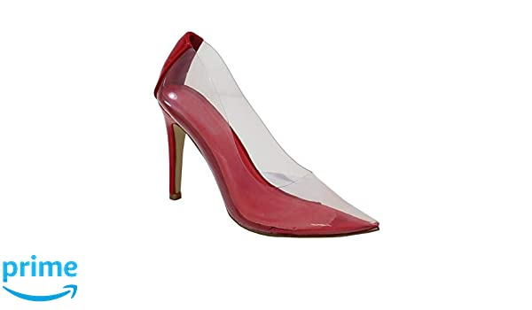 By shoes escarpin talon aiguille transparent femme: amazon.fr