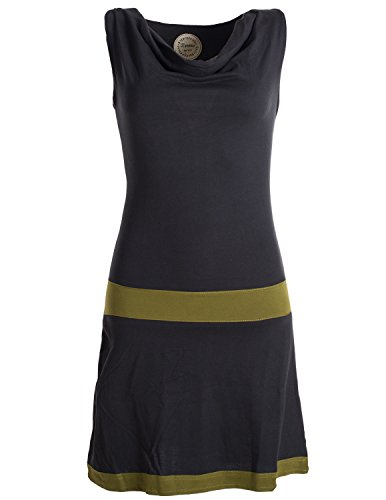 Vishes - Alternative Bekleidung - Ärmellose Tunika aus Biobaumwolle mit Wasserfallkragen Ärmellose Tunika aus Biobaumwolle mit Wasserfallkragen schwarz 40-42 ()