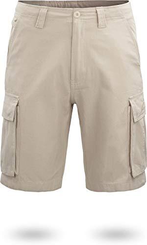 normani US BDU Bermuda Shorts Sport-Frezeithose mit Seitentaschen für Herren aus Bio-Baumwolle S-XXXXL Farbe Khaki Größe XL Bio Chino