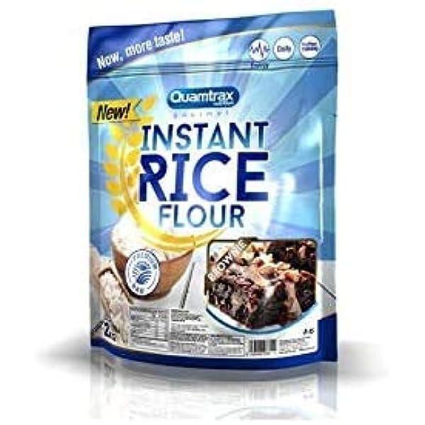 Quamtrax Gourmet Harina de arroz instantánea Sabor Brownie ...