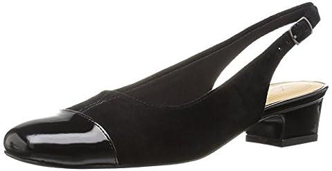 Trotters Women's Dea Flat, Black, 8 W US