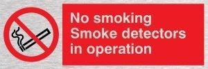 Viking Schilder ps7-l15-ms No Smoking Rauchmelder in Operation Sign, Edelstahl, marine Grade, 50mm...