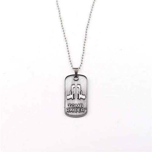 mb Raider 20 Jahre Feier Halsband Halskette Für Frauen Mann Anhänger Lara Croft Schlüsselanhänger Schlüsselanhänger Charme Geschenk ()