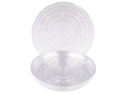 10k Faser (Curtis Wagner rund klar Vinyl Pflanze Untertasse-10PACK)