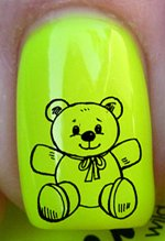 Ours, serre moi - Stickers pour ongles YRNAILS