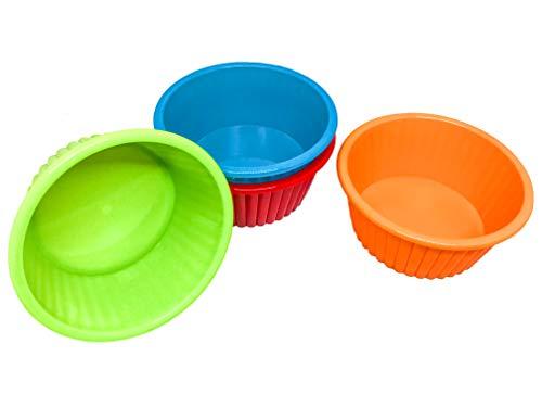 Dowin 4-teiliger Kunststoff-Förmchen zum Backen und Tauchen Set of 4 (Blue, Green, Red & Orange) Orange Ramekin