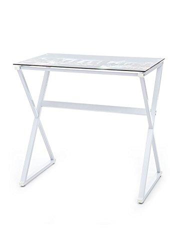 Tomasucci 1495 Skyline Computer Desk, Bianco