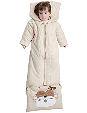 BabyFat Baby Schlafsack-Set/Wickeln Swaddle Decke für Mädchen & Jungen Neugeborenes Unisex Bio-Baumwolle Gestrickt...