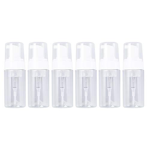 Lurrose Tragbare transparente schäumende Pumpspender 100ml für Flüssigseife - Packung mit 6 (Schäumende Flüssigseife Pumpe)