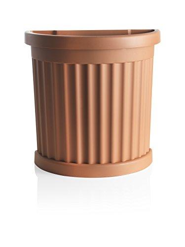 Bama vaso roma con sottovaso, terracotta, 52x27x49 cm