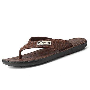 Mocassini & amp da uomo;Slip-on Primavera Autunno Comfort pelle bovina casuale Tallone piano Stitching Luce Bro sandali US7.5 / EU39 / UK6.5 / CN40