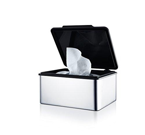 Blomus Menoto Caja para Toallitas Húmedas, Caja para Paños Húmedos, Acero Inoxidable Pulido, 7.5x15x13cm, 68822