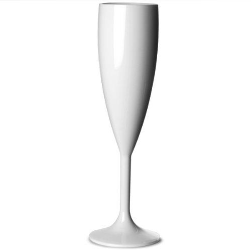 BB 141-1 WH NS flûte en polycarbonate de BBP, 187 ml, blanc (lot de 12)