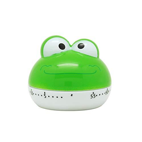 Hemore Netter Reizende Frosch 55 Min Tier Küchen-Timer Countdown-Timer für Kithen Kinder - Multi Farben Hohe Qualität, praktisch, die Sie verdient haben - Ring-küchen-timer
