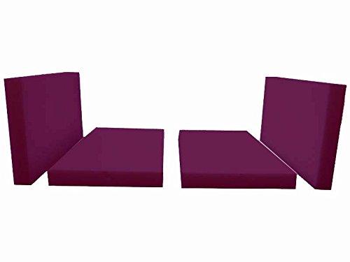 silenta Kinder Sitzkissen zum Hochbett Kronach Sitzpolster-Set Bankauflagen nach Maß (Beere)