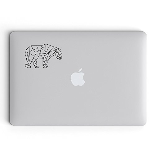 Geometrisch Bär Aufkleber Sticker Decal für Laptop Macbook Tablet usw. - Geometric Bear Tier Tiere Design Abstrakt Abstract (Bären Laptop)