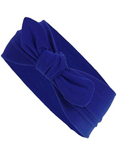 Harrys-Collection Damen Mädchen Haarband Schleife 10 Unifarben, Farben:royalblau,...