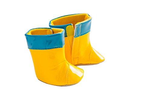 Heless 542 Flotte Regenstiefel, Größe 38 - 45 cm, gelb - Schuhe Puppe