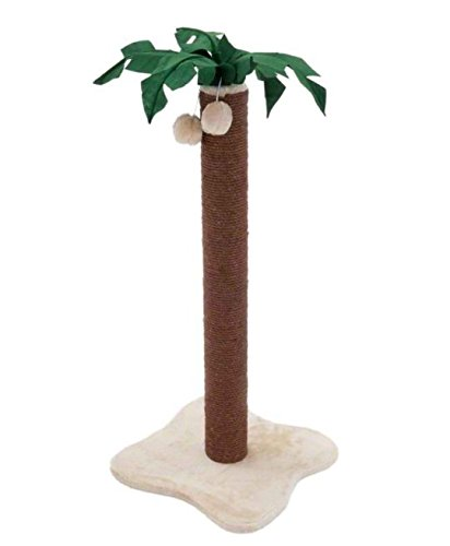 Coconut Palm Cat Scratching Post - with Dark Brown Sisal Covered Trunk and Plush-Covered Base - Adds A Touch of Tropical… 2