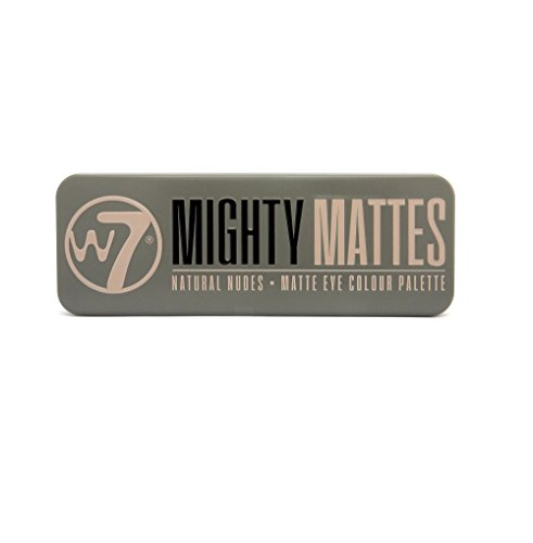 W7Mighty Mates paleta de sombras de colores mate naturales, 15,6g, 12piezas