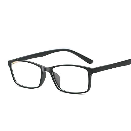 Easy Go Shopping Ultraleichte Tr90 Anti-Blu-Ray-Brille für Studenten mit normalem Brillengestell Sonnenbrillen und Flacher Spiegel (Color : 04Schwarz, Size : Kostenlos)