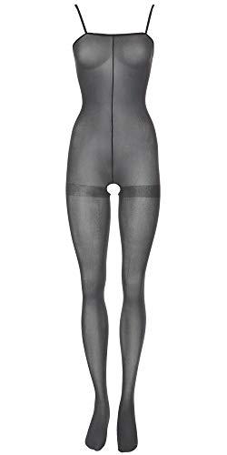 Orion Catsuit - Reizwäsche Bodysuit mit ouvert-Öffnung, verführerisches Catsuit-Dessous für Frauen, sexy Einteiler für sie, unten offen, schwarz (S-L)