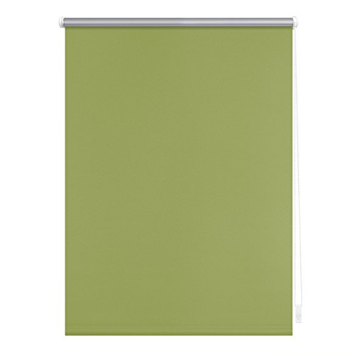 Lichtblick Thermo-Rollo, 70 cm x 150 cm (B x L) in Grün, ohne Bohren, Sonnen-, Sicht-, Hitze- & Kälte-Schutz, reflektierende Thermofunktion, Klemmfix für Fenster & Türen