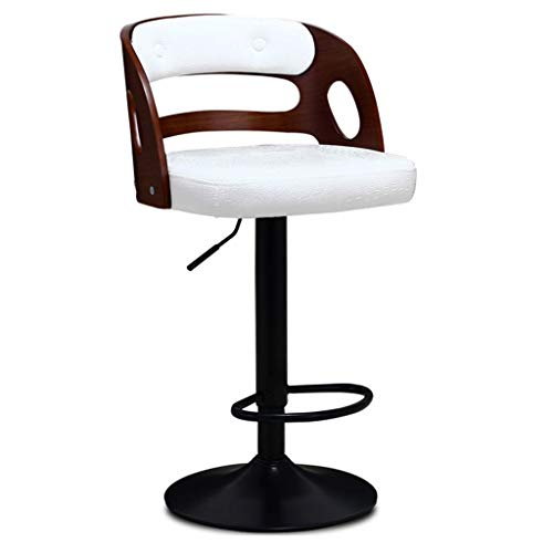 Living room bar stool Barstuhl Mit Rückenlehne, Höhenverstellbarer Empfangsstuhl Drehbarer Cafe Stuhl Aus Edelstahl Drehsessel,für Küche, Restaurant, Cafe, Bar (Größe: 38,5 * 38,5 * 107cm) For bars, l -