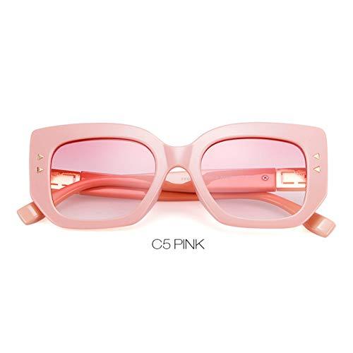 ZRTYJ Sonnenbrille Weinlese-übergroße Sonnenbrille-Frauen-Retro schicke Rahmen-90S des schwarzen Quadrats Moderne Sonnenbrille-Schatten