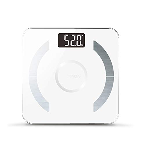 Bluetooth Fat Scale, Smart Weight Body Composition Monitor Analyzer funktioniert mit Bluetooth Smart Phone Free App Use for Measures Body Weight Fat Fat