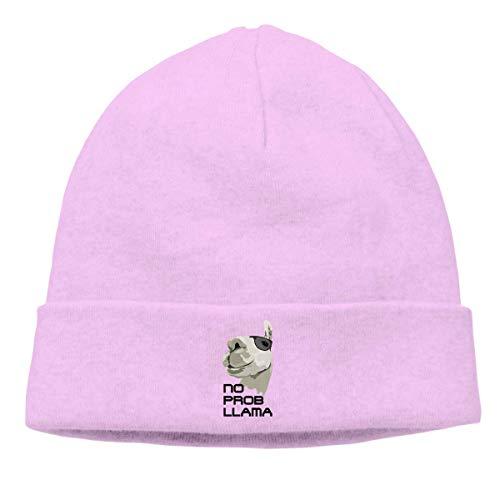 tyutrir Adult Skull Cap Beanie Keine Prob Lama Strickmütze Headwear Winter Warme Hip-Hop-Mütze Perfect 8091