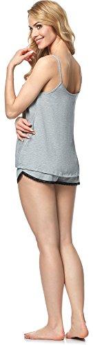 Italian Fashion IF Damen Pyjama Madam 0226 Melange