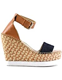 COLORS OF CALIFORNIA Colors Of California Jute Wedge Ankle Lace In Leath  HC.JWEDGE012- 72cb024cbf9