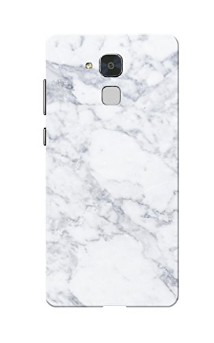 Caseria Marble White Slim Fit Hard Case Cover for Huawei Honor GT3/7 Lite/Honor 5C