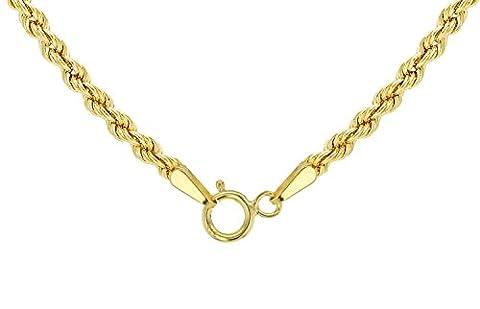 14 Karat / 585 Gold Kordelkette Gelbgold Unisex - 2