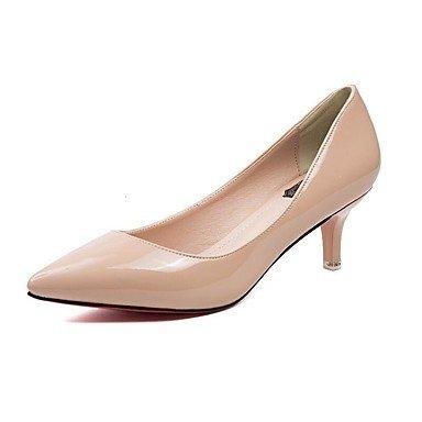 Talloni delle donne Primavera Estate Autunno Inverno Club scarpe da sera ufficio & carriera Comfort PU pelle verniciata casuale tacco a spillo OthersBlack bianchi White